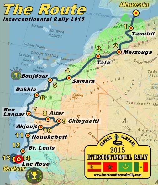 Ruta del International Rally